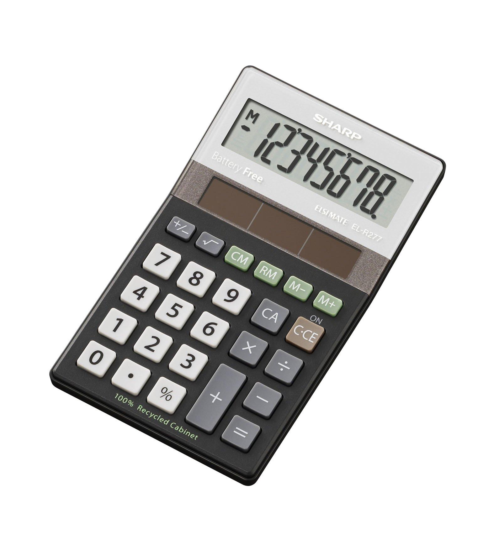 Sharp EL-R277BBK calculator - calculators (Desktop, Black, 70 x 21 x 117 mm)
