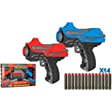 SHANBUYERS - Xplore the Unxplored Twin Mini 2 High Speed and Long Range Bullet Gun Pistol Toy with 14 Soft Foam Bullets…