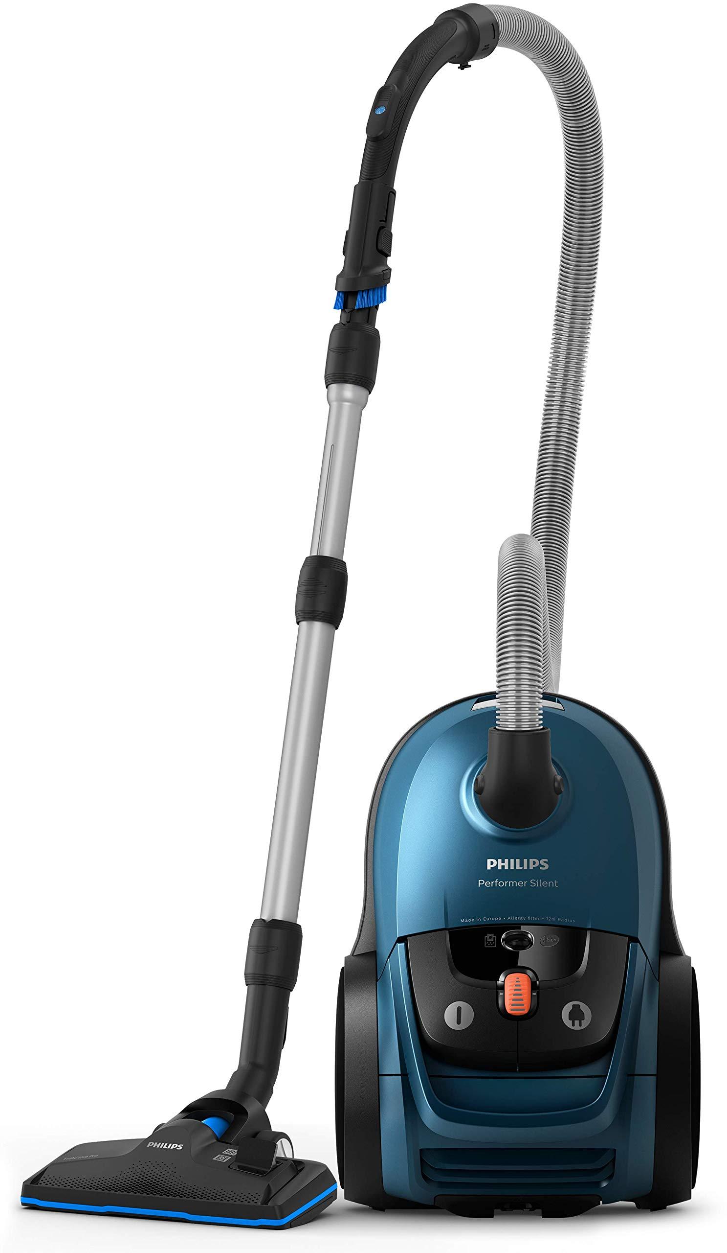 Philips FC8783/09 Performer Silent Staubsauger mit Beutel, blau