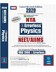 UBD 1960 Errorless Physics for NEET/AIIMS Latest 2020 Edition as per Examination bt NTA ( Set of 2 Volume)