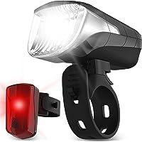 Velmia Fahrradlichter Set StVZO zugelassen mit USB Akku-Betrieb und 8,5h Leuchtdauer I LED Fahrradlicht Set regenfest…