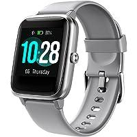 Smartwatch Damen Herren, 1.3 Zoll Touch-Farbdisplay Fitnessuhr mit Schrittzähler, Pulsuhr, Schlafmonitor, Musiksteuerung…