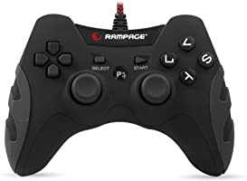 Snopy Rampage SG-R218 PS3/PC X INPUT Siyah USB 1.8m Joypad [Windows 10 ]