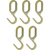 Gedotec métal crochets en laiton pour tube d'armoire tige de meuble ovale | Look or | Crochets pour vestiaire Vintage…
