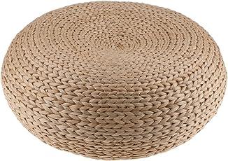 Segolike Handcrafted Eco-friendly Straw Woven Dia. 40cm Seat Pouf Yoga Meditation Mat