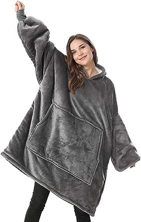 Lushforest Pullover Felpa con Cappuccio Oversize, con Maniche Calda e Confortevole per Uomini, Adatta per Adulti, Uomini e Donne Adolescenti