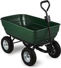Waldbeck Green Elephant • Gartenwagen • Handwagen • robuste Wagenschale • 400kg Belastbarkeit • Transport schwerer Lasten • kippbar • breite Luftreifen • grün