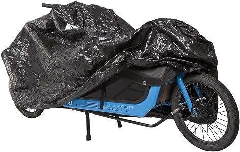 M-Wave Unisex– Erwachsene Cargo Fahrradgarage, extra, einspurige Lastenräder, Fahrradschutz, widerstandsfähiges Tarpaulin, Größe ca. 290x120x70 cm, schwarz