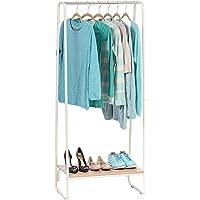 Iris Ohyama - Portant penderie à vêtements / Porte-manteaux avec étagère en bois MDF et métal - Garment Rack PI-B1…