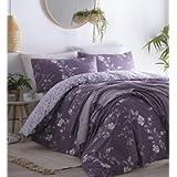 Portfolio Yasmina Floral Duck Egg Single Duvet Cover Reversible Bed Set
