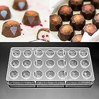 Jeteven Moule à Chocolat Sweet Candy DIY Moule en Polycarbonate 21 Demi de Diamant Chocolat Candy Moule