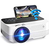 VicTsing Wifi Projector, Mini Projector 6000 Lux, Home Theater Wireless With Screen Mirroring, 1080P Full HD Supported, Compa