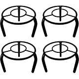 D&V ENGINEERING - Creative in innovation Metal Pot Stand, Black, 19 cm, 4 Pieces