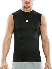 Azani Men's SubZero Tech Muscle Gym Performance Sports Wear Sleeveless T-Shirt