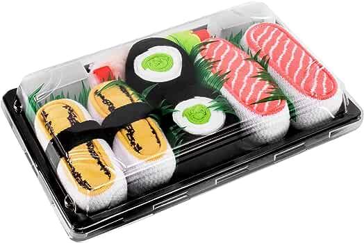 3 Paires Sushi Chaussettes Tamago Oshinko Saumon Rainbow Socks Femmes Hommes