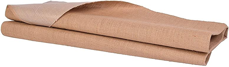 JUTE N FABRICS,Laminated Everest Natural Color Jute Fabric, 51 INCH Width Five MTR Packing, Used for Making Jute Bags, Art & Craft,Home DECORE, Matting