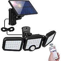 Lampe Solaire Exterieur Detecteur de Mouvement, 108 LED Spot Solaire avec Câble de 5m Eclairage Exterieur 360° Reglable…