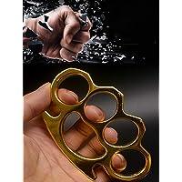 CNQXG Guanti con Fibbia per autodifesa con Dita in Metallo Knuckles,Supporto per Impugnatura per Pugno Palmare per Dita…