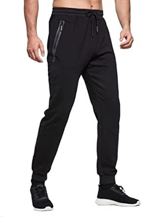 ZOXOZ Mens Tracksuit Bottoms Joggers Slim Fit Gym Sports Elasticated Waist Zip Pockets