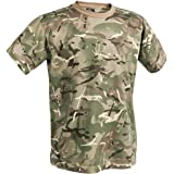 Dallaswear Adults Camo T-Shirt Airsoft Military Multi Terrain Pattern MTP Multicam t Shirt
