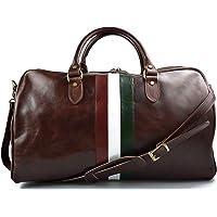 Sac de voyage cuir sac bagage sac bagage a main drapeau italien homme femme bandoulière en cuir sac de sport bagage à…