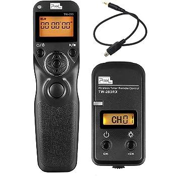 Pixel Pro 2.4GHz LCD Kabelloser Timer-Fernauslöser TW283-DC2 Kabellos Fernauslöser für Nikon Df D5600 D3100 D3200 D3300 D5000 D5100 D5200 D5300 D5500 D90 D7000 D7100 D7200 D600 D610 D750 Coolpix P7700 P7800 Coolpix A