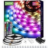 Lepro LED Strip 20M(2x10M), LED Streifen Lichterkette mit Fernbedienung, 5050 SMD 600 LEDs Band Lichter, RGB Dimmbar Lichtlei