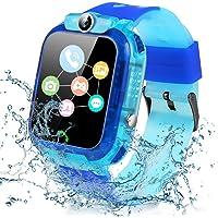 Smartwatch per Bambini - Impermeabile IP68 LBS Tracker Orologio Intelligente Telefono con SOS Chat Vocale, Sveglia e…