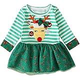 Baby M/ädchen Kleider Sch/öne Cartoon Print Sun Langarm Kleid Kleinkind Kinder Kleidung Outfits Karneval Ostern Prinzessin Kleid
