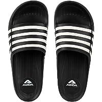 ADDA 2D-I Speed Men's Black/White PVC Slipper Flip-Flop