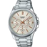 Casio Dress Watch For Men Analog Stainless Steel - MTP-1375D-7A2V