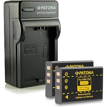 Bundle - 4in1 Caricabatteria + 2x Batteria NP-120 per Fujifilm FinePix F10 | FinePix F11 | FinePix M603