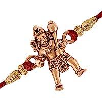 Mahi Rose Gold Plated Jai Hanuman Rakhi (Bracelet) for beloved brothers RA1100604Z
