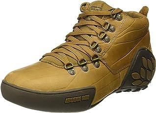 Woodland Men's Beige Leather Combat Boots - 6 Uk
