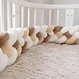 RedKids - Tour de lit pour bébé - 2.2/3M - Tour de lit - Tressé - Pour lit de bébé - Décoration pour lit d'enfant, Beige, mar