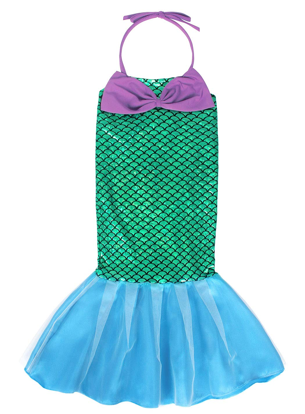 AmzBarley Costume della Sirenetta Vestito vestirsi Ragazza Bambina Coda di Pesce Costumi di Halloween Vestiti Compleanno… 3 spesavip