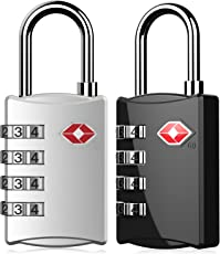 DOCOSS Silver & Black Luggage Lock(Pack Of 2)