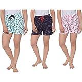 Real Basics Women's Lounge Shorts- Pack of 3