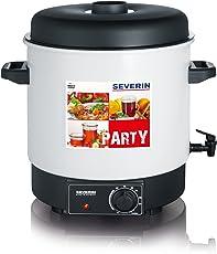 Severin EA 3653 Einkoch- und Heißgetränkeautomat mit Auslaufhahn / für 14 1-Liter-Rundrandgläser 100 / weiß-schwarz
