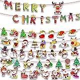 Navidad Banderas Buntings Banner Colgantes Decorativas Decoración Feliz Navidad Merry Christmas Muñeco de Nieve Papá Noel Arb