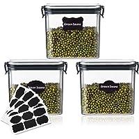 3 Pcs Boîtes de Conservation Hermétiques, 700 ml Boîte Alimentaire, Boîte à Céréales avec Couvercle Scellé, Sans BPA, 32…