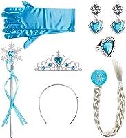 Lictin Corona Principessa Bambina Bacchetta Magica - 6 Pezzi Accessori Principessa, Diadema, Guanti, Bacchetta Magica,la...