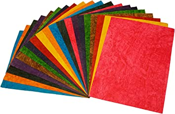 GOLD LEAF Handmade Crushed Colored Sheets A4 Size Thick Mixed Colors (Pack Of 20) (10Colors X 1 Sheets Each)