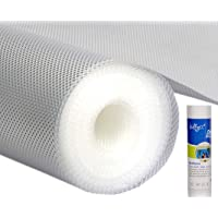 Bulfyss Multipurpose PVC Textured Super Strong Anti-Slip Mat Liner (Transparent White, 45 X 500 cm, 5 m Roll)