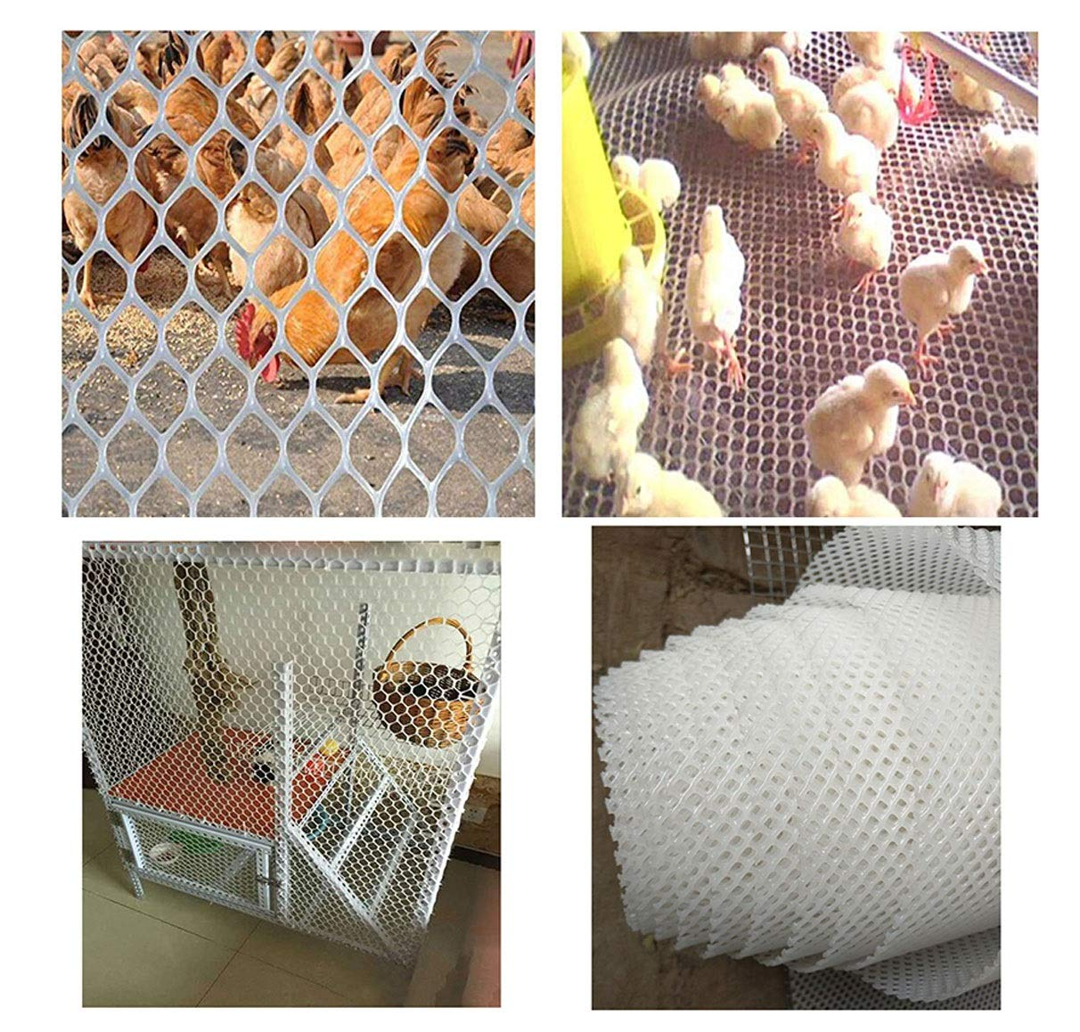 Plastic Garden Net Mesh Barrier Safety Fence Netting Balcony Stairs Safety Fence Chicken Net Cat Net Plant Support Fence (Size : 2 * 50m) NNFHW ♦ Plastic safety mesh with a diameter of 1.8cm prevents children's head and body from falling through the railing and prevents toys and shoes from falling from the gap between the armrests. It can even be used as a pet safety door. Provide a safe gaming environment for children. ♦ Lawn protective grilles are used to reinforce large areas of flat surfaces, especially parks and lawn areas, slopes and embankments. The turf grid increases the load-bearing capacity of the soil. Effectively prevents the formation of ruts. Suitable for short-term parking, driveways, etc. ♦ Plastic flat net waterproof, wear-resistant, tough, light weight, long service life, non-toxic and tasteless, high transparency. Ideal for interior and exterior of residential buildings such as railings, stairs, cots, hallways, balconies, etc. The honeycomb design does not interfere with your view. 3