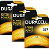 3 x Duracell 377 1.5v Silver Oxide Watch Battery Batteries SR626SW AG4 626 D377