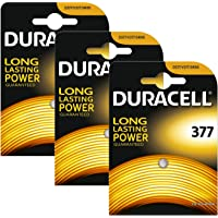 3 X Duracell 377 SR626SW SB-AW AG4 1.55v Silver Oxide Watch Battery