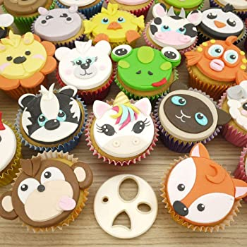 Fmm Mix N Match Animal Face Icing Cutter Create Hundreds Of