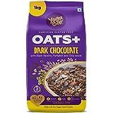 Yogabar Dark Chocolate Oats 1kg | Wholegrain Oatmeal That Helps Reduce Cholesterol | Healthy Breakfast Cereal High in Protein