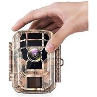 """Campark Mini Wildkamera 16MP 1080P HD mit Bewegungsmelder Nachtsicht Wildlife Jagdkamera Wildtierkamera mit 120° und 2.0"""" LCD IR LEDs"""